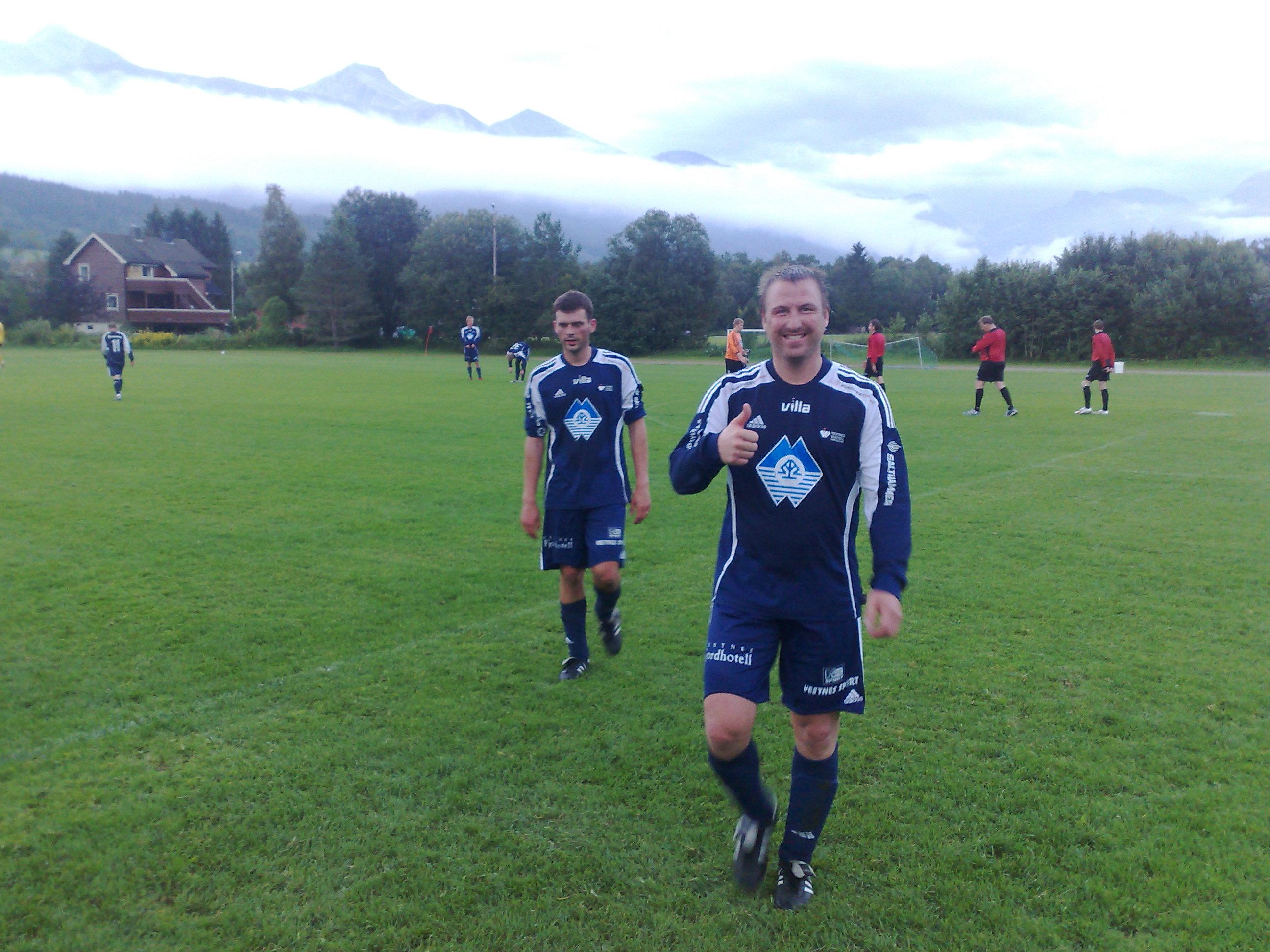 Alexander Connor og Bjørn-Vegard Løvik er fornøgd med kampen